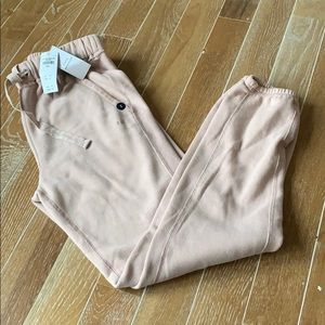 NWT Abercrombie & Fitch Nude Soft Fleece Pants SM